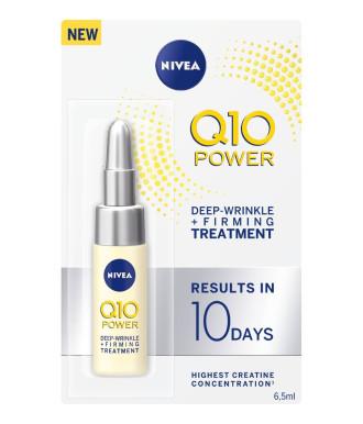 НИВЕА Q10 ПАУЪР Ампула за интензивна терапия на дълбоки бръчки 6,5мл | NIVEA Q10 POWER Ampule for deep wrinkle and firming treatment 6,5ml