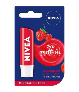 НИВЕА Балсам за устни плодов Ягода 4,8гр | NIVEA Lip Balm fruity Strawberry Shine 4.8g