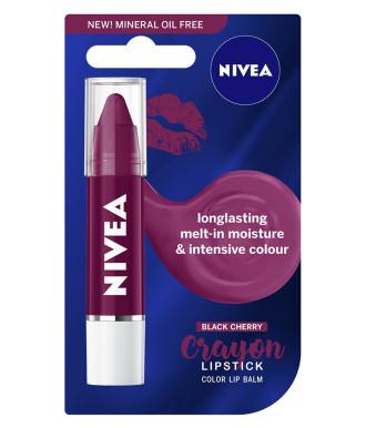НИВЕА ЧЪБИ СТИКС Балсам за устни Черна Череша 3гр | NIVEA CHUBBY STICKS Lip balm Black Cherry 3g