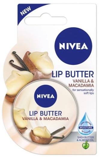 НИВЕА Масло за устни Ванилия и Макадамия 16,7гр   NIVEA Lip Butter Vanilla & Macadamia 16,7g