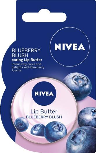 НИВЕА Масло за устни Боровинка 16,7гр   NIVEA Lip Butter Blueberry 16,7g