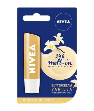 НИВЕА Балсам за устни Ванилия 4,8гр   NIVEA Lip Balm Vanilla Buttercream 4.8g