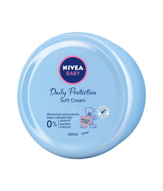 НИВЕА БЕБЕ ЕЖЕДНЕВНА ЗАЩИТА Нежен крем 200мл | NIVEA BABY DAILY PROTECTION Soft cream 200ml
