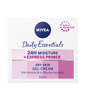 НИВЕА ДЕЙЛИ ЕСЕНШЪЛС Основа за нанасяне на грим 50мл   NIVEA DAILY ESSENTIALS Express primer for dry skin 50ml