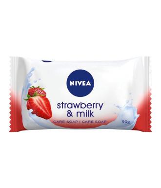 НИВЕА ЯГОДА & МЛЯКО Сапун 90гр | NIVEA STRAWBERRY & MILK Flowpack soap 90g