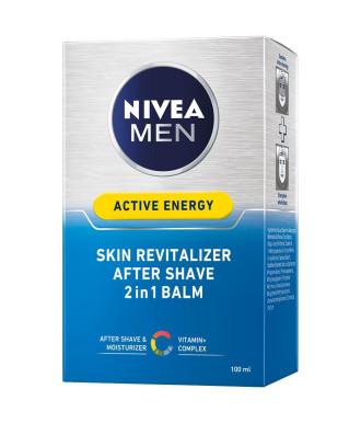 НИВЕА МЕН АКТИВ ЕНЕРДЖИ Балсам за след бръснене 100мл | NIVEA MEN ACTIVE ENERGY After shave balm 100ml