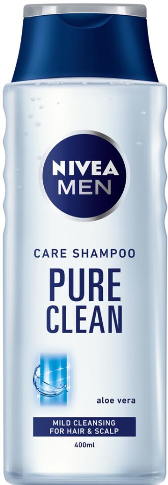 НИВЕА МЕН ПЮР КЛИЙН Шампоан за мъже 400мл   NIVEA MEN PURE CLEAN Care shampoo 400ml