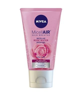 НИВЕА МИЦЕЛАР Мицеларен измиващ гел с розова вода за всеки тип кожа 150мл | NIVEA MICELLAIR Micellar wash gel with rose water for all skin types 150ml