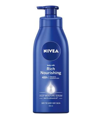 НИВЕА РИЧ НУРИШИНГ Подхранващо мляко за тяло 400мл | NIVEA RICH NOURISHING Body milk 400ml