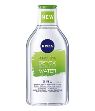 НИВЕА УРБАН ДЕТОКС Детоксикираща мицеларна вода 3-в-1 400мл | NIVEA URBAN DETOX Detox micellar water 3-in-1 400ml
