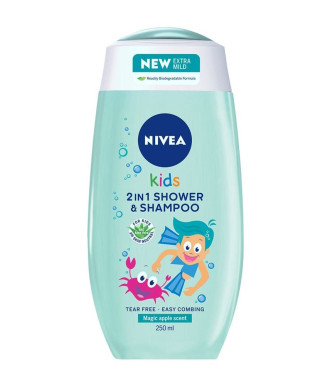 НИВЕА КИДС ЗА МОМЧЕТА Душ гел и Шампоан 2 в 1 250мл | NIVEA KIDS FOR BOYS Shower gel and Shampoo 2 in 1 250ml