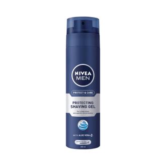 НИВЕА МЕН ПРОТЕКТ & КЕЪР Гел за бръснене 200мл | NIVEA MEN PROTECT & CARE Shaving gel 200ml