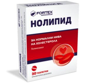 НОЛИПИД 10мг 30 таблетки ФОРТЕКС   NOLIPID 10mg 30 tabs FORTEX