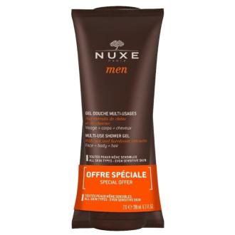 НУКС МЕН ПРОМО Душ гел за лице, коса и тяло 2x200мл | NUXE MEN GIFT Multi-use shower gel 2x200ml