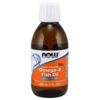 ОМЕГА-3 РИБЕНО МАСЛО течност 200мл НАУ ФУУДС | OMEGA-3 FISH OIL liquid 200ml NOW FOODS