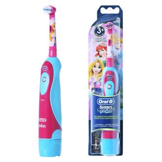 Електическа четка за зъби за деца СТЕЙДЖЕС ПАУЪР (Принцеси) 3+ БРАУН ОРАЛ-Б | Electric toothbrush battery for kids STAGES POWER (Princesses) KIDS 3+ BRAUN ORAL-B