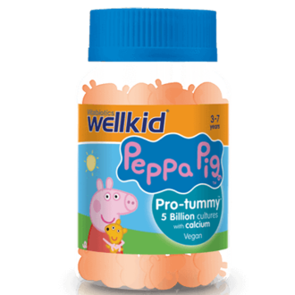 ПЕПА ПИГ Пробиотик за деца x 30 желирани табл. УЕЛКИД   PEPPA PIG Probiotic Gummies for kids x 30 gummies WELLKID