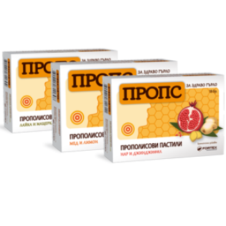 ПРОПС пастили, различни вкусове, 18бр ФОРТЕКС | PROPS pastilles 18s FORTEX
