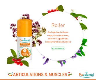 ПЮРЕСЕНШЪЛ Рол-он за стави и мускули с 14 етерични масла 75мл | PURESSENTIEL Muscles and Joints Roller with 14 essential oils 75ml