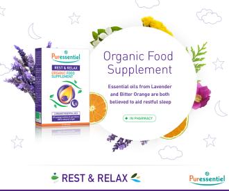 ПЮРЕСЕНШЪЛ Хранителна добавка за сън 30капс. | PURESSENTIEL Rest&Relax Organic Food Supplement 30s