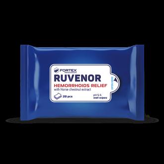 Мокри кърпи за хемороиди 20бр РУВЕНОР ФОРТЕКС | Ruvenor wet wipes 20s FORTEX