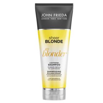 ДЖОН ФРИДА ШИР БЛОНД Изсветляващ шампоан за руса коса 250мл   JOHN FRIEDA SHEER BLONDE GO BLONDER Lightening shampoo 250ml