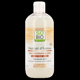 СО'БИО ММ Млечна мицеларна вода 500мл | SO'BIO MM Milky micellar water 500ml