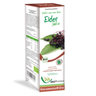 БИО СОК ОТ ОРГАНИЧЕН БЪЗ 330мл АБОФАРМА | BIO JUICE - ORGANIC ELDERBERRY 330ml ABOPHARMA
