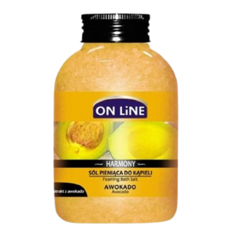 ОН ЛАЙН Пенобразуващи соли за вана с Авокадо 600гр. | ON LINE Foaming bath salts with Avocado 600g