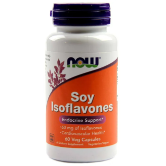СОЕВИ ИЗОФЛАВОНИ 150мг капсули 60 бр. НАУ ФУУДС | SOY ISOFLAVONES 150mg caps 60s NOW FOODS