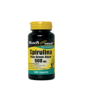 СПИРУЛИНА 500мг 100 таблетки МЕЙСЪН НАТУРАЛ | SPIRULINA 500mg 100 tabs MASON NATURAL