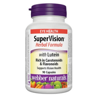 SuperVision® Билкова формула с Лутеин 242мг. 90бр. капсули УЕБЪР НАТУРАЛС | SuperVision® Herbal formula wuith Lutein 242mg 90s caps WEBBER NATURALS