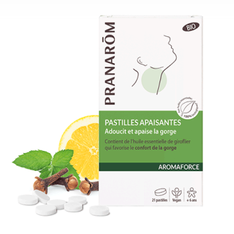 Таблетки за смучене АРОМАФОРС ПРАНАРОМ х 21 пастили | Pastilles AROMAFORCE PRANAROM x 21 pastilles