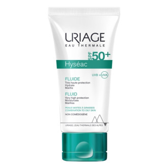 Флуид за лице за мазна кожа SPF50+ 50мл ЮРИАЖ ХИСЕАК   Very hight protection matifying fluid SPF50+ 50ml URIAGE HYSEAC