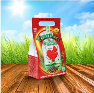 ВИРУМИН с три зърнени храни, филтърни торбички 120бр x 2.5гр (300гр общо) ПВМ ГАМА | VIRUMIN with three cereals, filter bags 120s x 2.5g (300g total) PWM GAMA