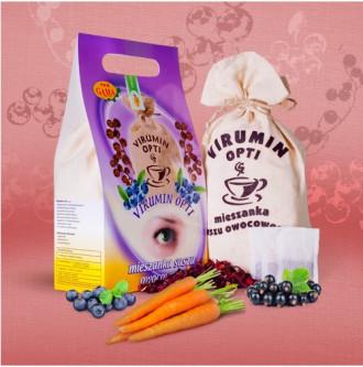 ВИРУМИН-ОПТИ с черна боровинка, филтърни торбички 120бр x 2.5гр (300гр общо) ПВМ ГАМА | VIRUMIN-OPTI with blueberry, filter bags 120s x 2.5g (300g total) PWM GAMA
