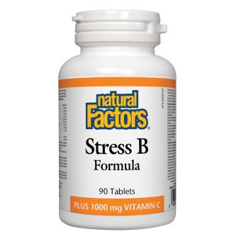 ВИТАМИН Б СТРЕС ФОРМУЛА 90 таблетки НАТУРАЛ ФАКТОРС | STRESS B FORMULA (Vitamin B) 90s tabs NATURAL FACTORS