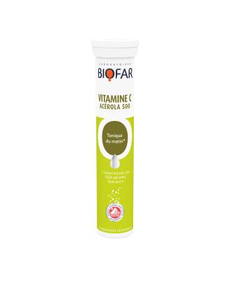 Витамин Ц - Ацерола 500мг х 20 ефф.табл БИОФАР | Vitamin C - Acerola 500mg x 20 eff tabs BIOFAR