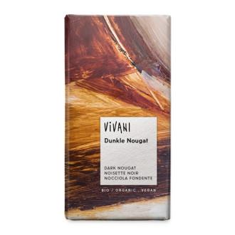 БИО Натурален Шоколад с Нуга крем 100гр ВИВАНИ | BIO Dark Chocolate with Nougat cream 100g VIVANI