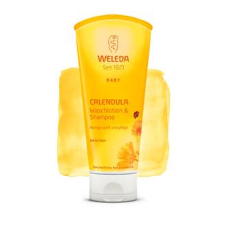 ВЕЛЕДА Душ гел & шампоан с невен 200мл | WELEDA Calendula waschlotion & shampoo 200ml