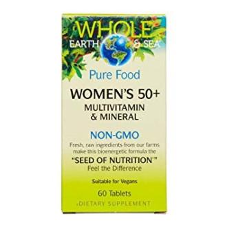 WOMENS'S 50+ Мултивитамини и минерали за жени 60бр. табл. ХОУЛ ЪРТ & СИЙ | WOMEN'S 50+ Multivitamin & Mineral 60s tabs WHOLE EARTH & SEA