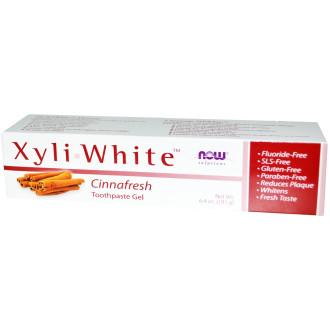 НАУ ФУУДС КСИЛИУАЙТ™ КАНЕЛА паста за зъби 200г | NOW FOODS XYLIWHITE™ CINNAFRESH toothpaste 200g