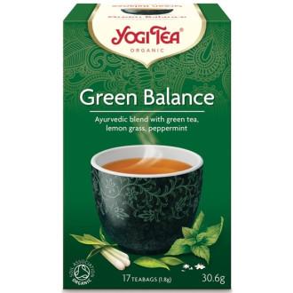 "ЙОГИ ОРГАНИК БИО Аюрведичен чай ""Зелен баланс"", пакетчета 17бр | YOGI ORGANIC BIO Ayurvedic tea blend ""Green balance"" teabags 17s"