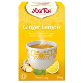 "ЙОГИ ОРГАНИК БИО Аюрведичен чай ""Джинджифил с лимон"", пакетчета 17бр | YOGI ORGANIC BIO Ayurvedic tea blend ""Ginger lemon"" teabags 17s"