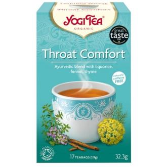 "ЙОГИ ОРГАНИК БИО Аюрведичен чай ""Здраво Гърло"", пакетчета 17бр | YOGI ORGANIC BIO Ayurvedic tea blend ""Throat comfort"" teabags 17s"