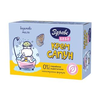 АРОМА ЗДРАВЕ БЕБЕ Крем сапун с Бадемово масло 75гр | AROMA ZDRAVE BABY Cream soap with Almond oil 75g