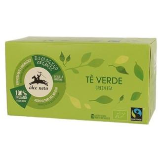 Зелен чай Alce Nero 20бр филтърни пакетчета   Green tea Alce Nero 20s tisane