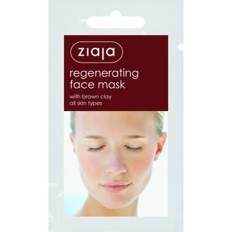 ЖАЯ Регенерираща маска за лице с Кафява глина 7мл саше | ZIAJA Regenerating Brown clay face mask 7ml
