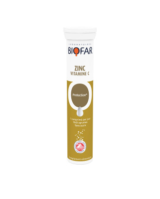 Цинк + Витамин Ц 500мг х 20 ефф.табл БИОФАР   Zinc + Vitamin C 500mg x 20 eff tabs BIOFAR